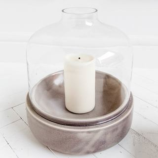 Mercana Brighton (Large) Brown Wood Candle Holder