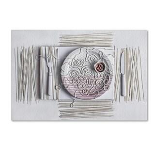 Dimitar Lazarov 'Spaghetti' Canvas Art