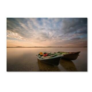 Piotr Krol 'Boats' Canvas Art