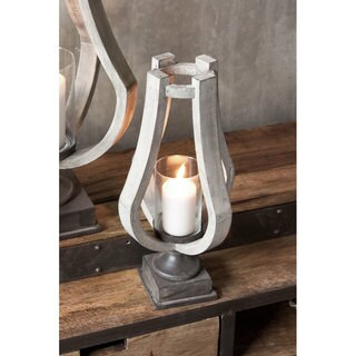 Mercana Brillion (Small) Beige Wood Candle Holder