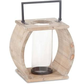 Mercana Brighton (Small) Natural Wood Candle Holder