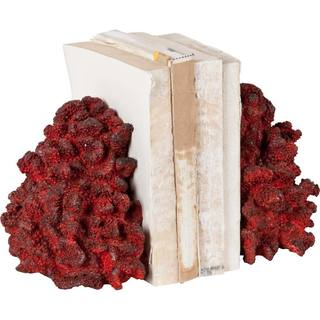 Mercana Molena Red Resin Coral Bookends (Set of 2)