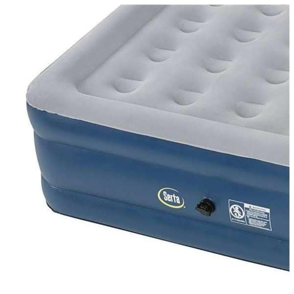 Serta Raised 15-Inch Queen Airbed Mattress with External Air Pump Used