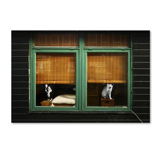 Jacek Stefan 'Window Cleaners' Canvas Art