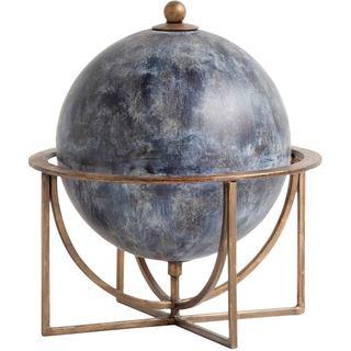 Mercana Obeo Brass Metal Globe Accent Piece