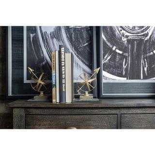 Mercana Virdal Gold Metal Arrow Bookends (Set of 2)