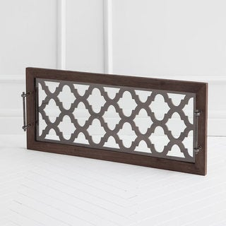 Link to Mercana Stotonic Brown Wood Tray Similar Items in Accent Pieces