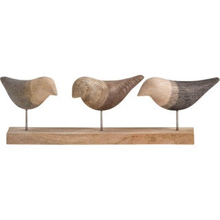 Mercana Yardley Brown Wood Bird-themed Accent Piece