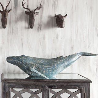 Mercana Webster Blue Whale Resin Accent Piece