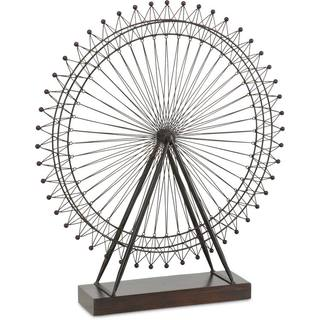 Mercana London Eye III Ferris Wheel Black Metal/Wood Accent Piece