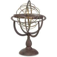 Mercana 'Victory' Brown Metal Globe Style Accent Piece