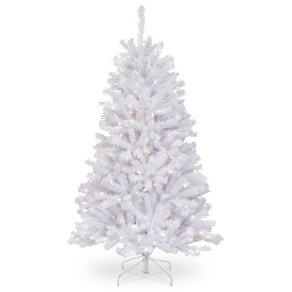 2 Ft White Christmas Tree: Shop 4.5 Ft. North Valley White Spruce Tree With Clear