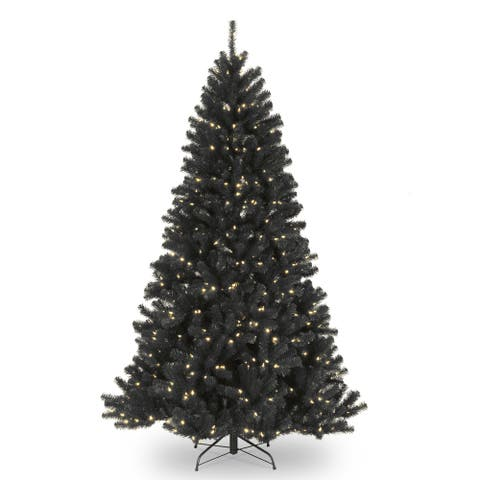 7.5 ft. North Valley Black Spruce Tree with Clear Lights - 7.5'