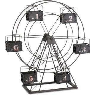 Mercana Black Metal Ferris Wheel Tealight Candle Holder