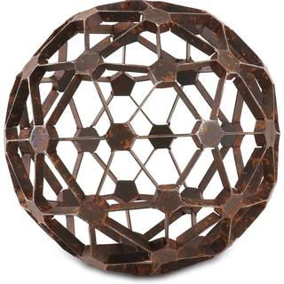 Mercana Dodecahedron Brown Metal Accent Piece