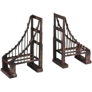 Mercana Mercana Suspension Bridge Black Metal Bookends (Set of 2)