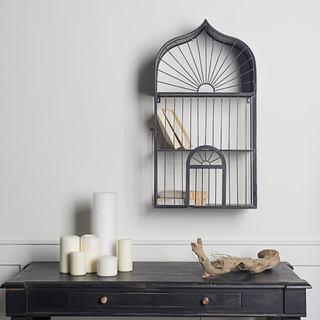 Mercana Crowberry Black Metal Decorative Shelf