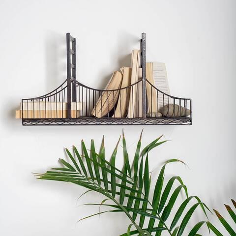 Mercana Fran Black Metal Bridge Shelf