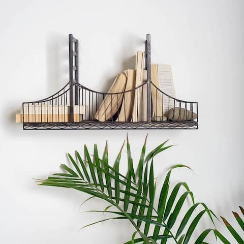 Mercana Fran Black Metal Bridge Shelf