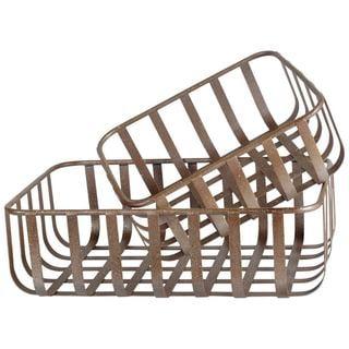 Mercana Ashford (Set of 2) Tan Metal Basket