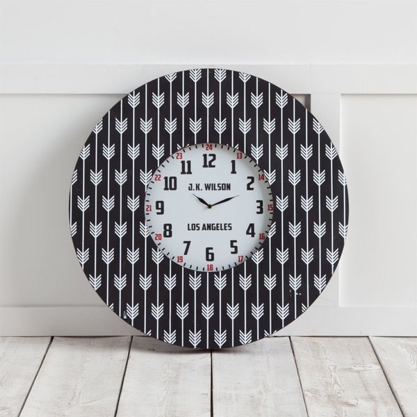 Mercana Calabash II Black Metal Wall Clock