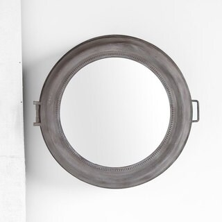 Mercana Beecher Brown Metal Storage Wall Mirror - A/N