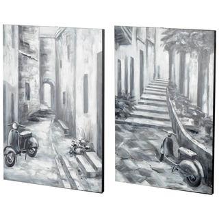 Mercana Memory Lanes (Set of 2) Grey Wood Wall Art