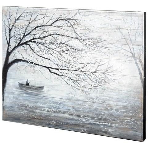 Mercana Bayswater White Wood Wall Art