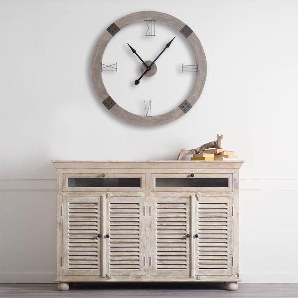 Mercana Delta II Brown Wood Clock
