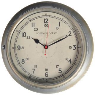 Mercana Bretton Silver Metal Clock