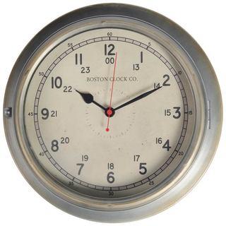 Mercana Bretton Silver Metal Clock