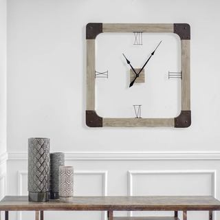 Mercana Delta Brown Wood Wall Clock