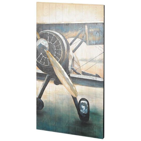 Mercana Beechcraft Yellow Wood Wall Art