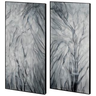Mercana Marsee Grey Wood Wall Art (Set of 2)