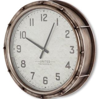 Mercana Humbolt Silver Metal Clock