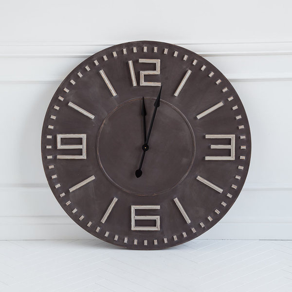 Mercana Devonshire II Brown Wood Indoor/Outdoor Wall Clock