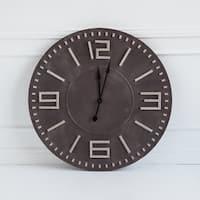 Mercana Devonshire II Brown Wood Indoor/Outdoor Wall Clock