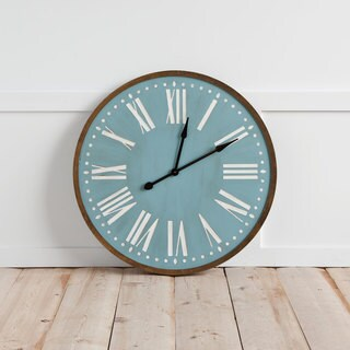 Mercana Rosario Blue Wood Clock