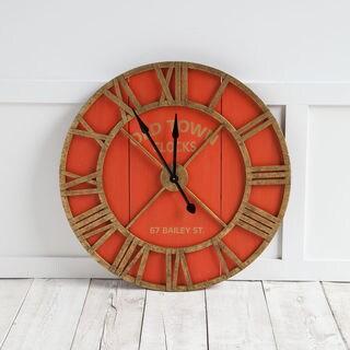 Mercana Bolival II Orange Wood Clock