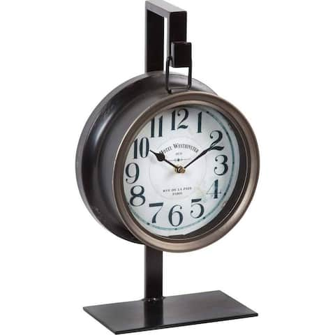 Mercana Taxz Metallic Brown Metal Hanging Table Clock - 9.0L x 5.0W x 16.0H