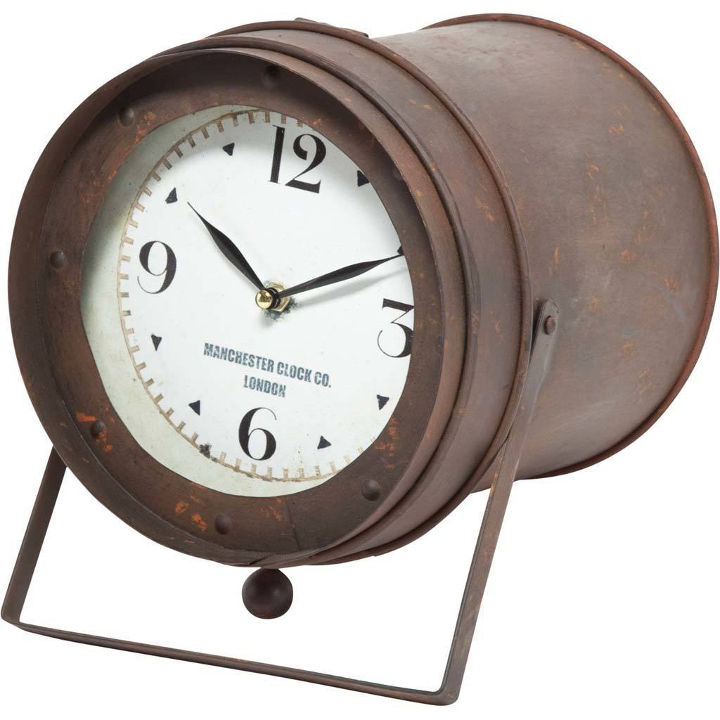 Mercana Cavendish Brown Metal Clock (Clocks), Black