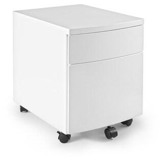 Euro Style Ingo White Steel File Cabinet