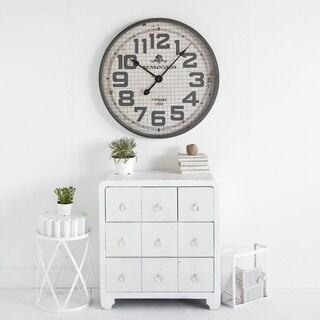 Mercana Clematisina Grey Metal Clock