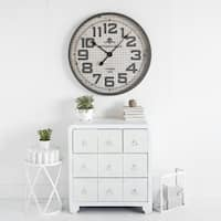 Mercana Clematisina Grey Metal Clock