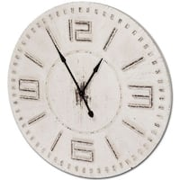 Mercana Devonshire White Wood Clock