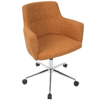 Andrew Contemporary Office Chair in Fabric (Option: Orange)