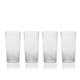 Vitorrio Frosted Highball Glasses, Set of 4