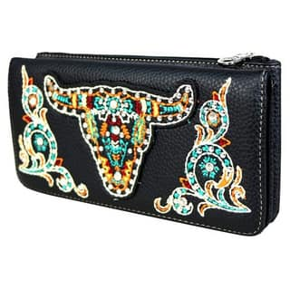 Montana West Embroidered Steer Head Wallet https://ak1.ostkcdn.com/images/products/16722610/P23036740.jpg?impolicy=medium