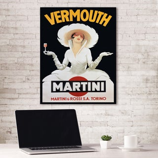 Portfolio Canvas Decor Vermouth Martini by Vintage Ad Wrapped Canvas Wall Art