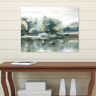 Portfolio Canvas Decor Spring Lake Crop Teal Light by Sandy Doonan Wrapped Canvas Wall Art